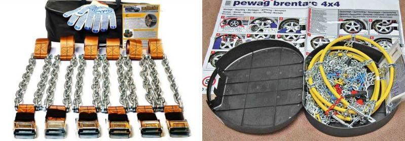 выбор пластиковых цепей на колеса